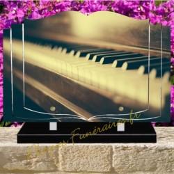 PLAQUE FUNÉRAIRE LIVRE PLEXI PIANO W00806
