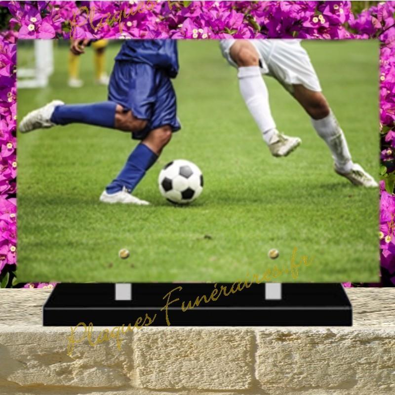 PLAQUE FUNÉRAIRE PLEXI FOOTBALL 02137
