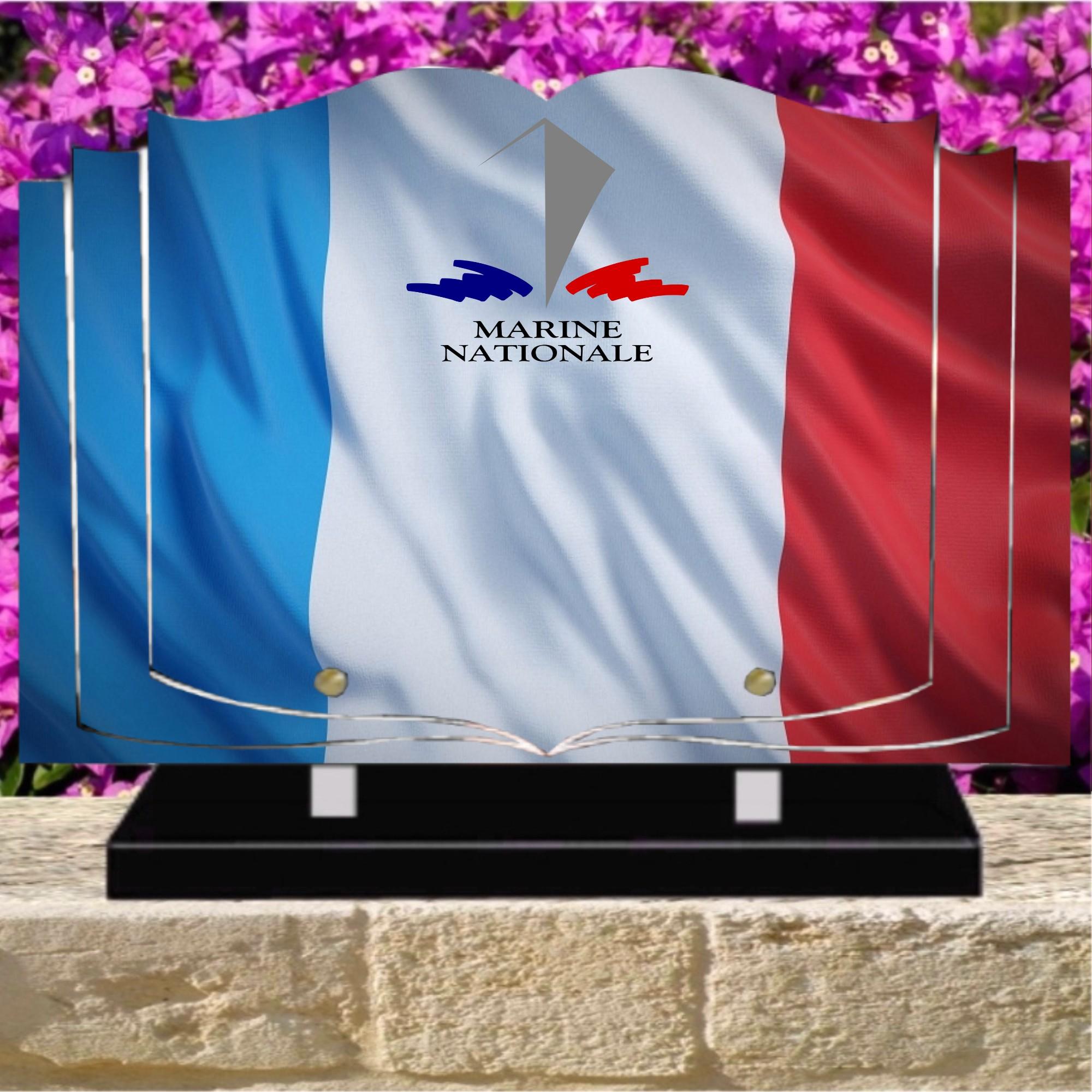 plaque funéraire marine nationale