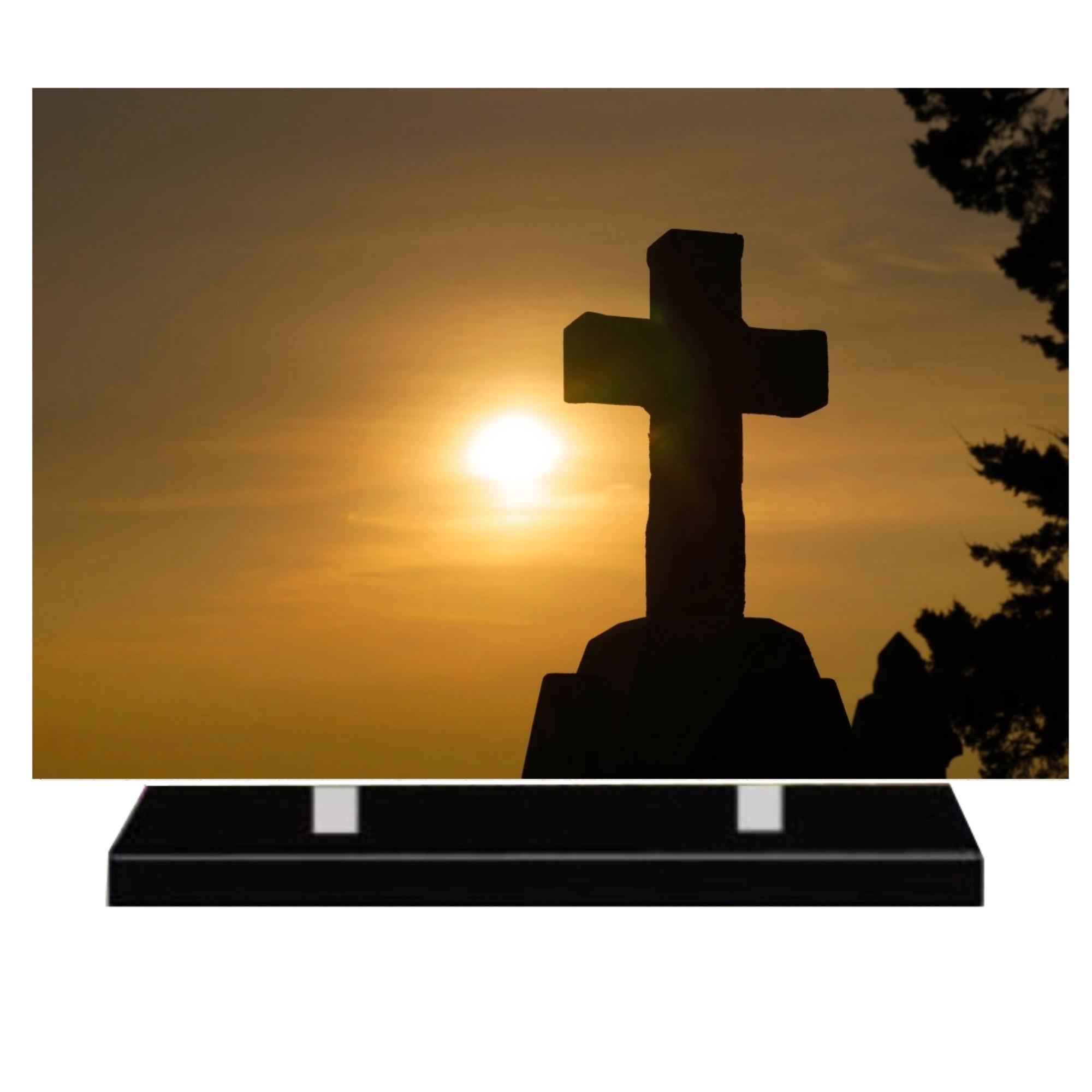 Plaque funéraire moderne religion catholique