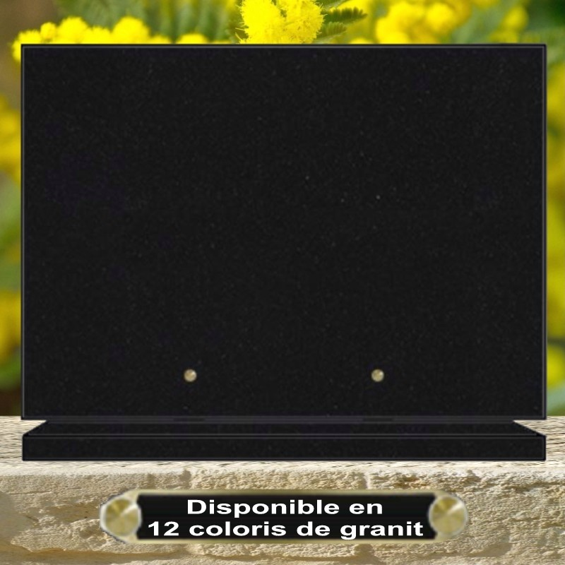 PLAQUE GRANIT SOCLE RECTANGLE CG234 PERSONNALISABLE