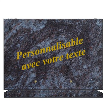 plaques funéraires granit rectangulaires personnalisées