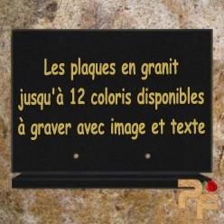 plaques funeraires granit entièrement personnalisables