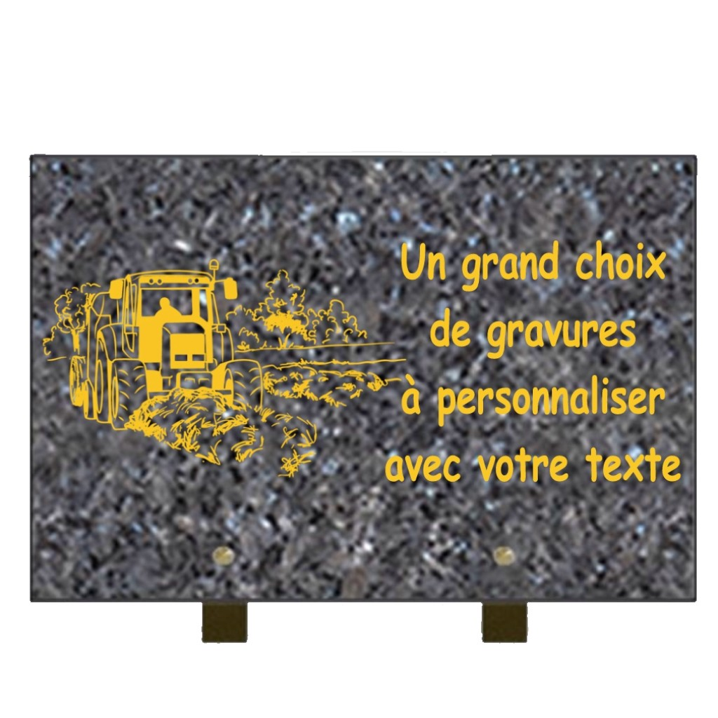 PLAQUE FUNÉRAIRE GRANIT CAMPAGNE